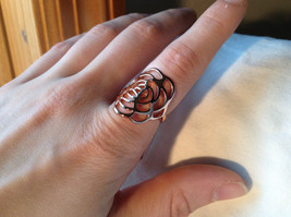 Rose Flower Design Rose Gold Tone Fashion Ring Size 6.25 and 7.5 by Rigant  image 3