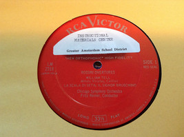 Rossini Overtures Chicago Symphony Reiner Complete with Records image 3