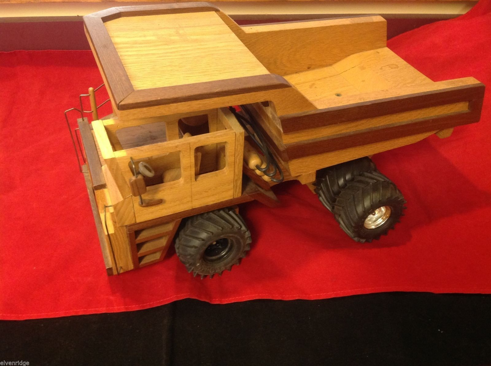 Toy hand made model dump truck vintage  with minor issues