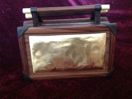 Rosewood and Lamb Skin Purse Made in Java Island Made by Hand One at a Time image 4