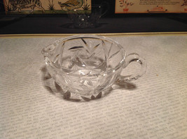 Round Small Crystal Etched Creamer image 3