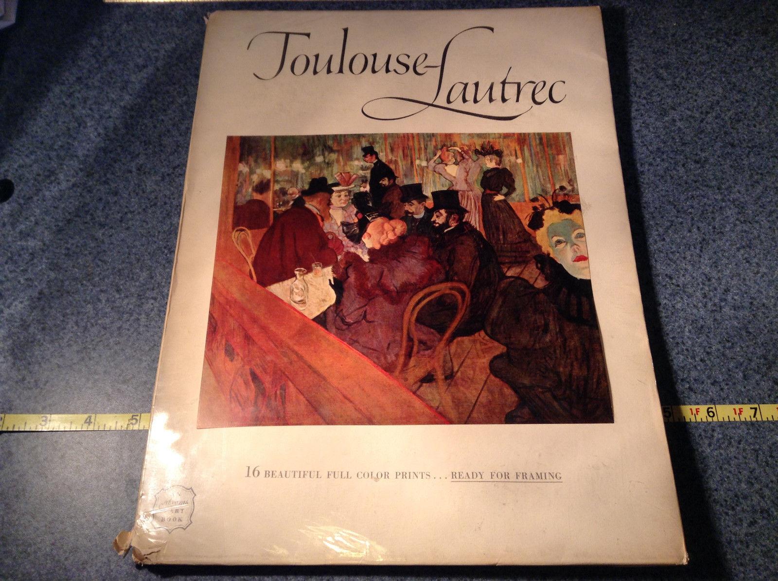 Toulouse Lautrec Book 16 Beautiful Full Color Prints 1952 Excellent Condition