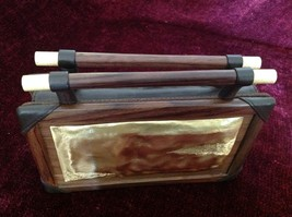 Rosewood and Lamb Skin Purse Made in Java Island Made by Hand One at a Time image 3