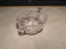 Round Small Crystal Etched Creamer image 2