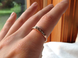 Rose Gold Tone CZ Round Delicate Ring by Rigant Size 7.75 image 7