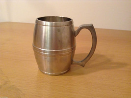 Royal Selanger Pewter Metal Silver Beer Mug with handle image 2