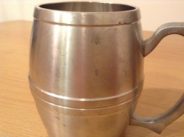 Royal Selanger Pewter Metal Silver Beer Mug with handle image 4