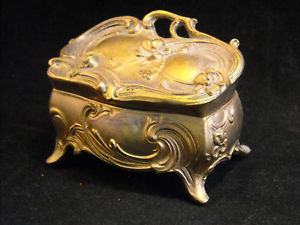Trinket Box Baroque style floral design