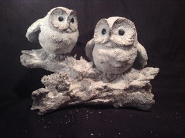 Two Owls Sitting on Tree Branch Decoration