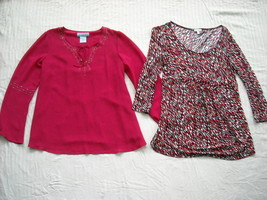 Two Colorful Maternity Tops