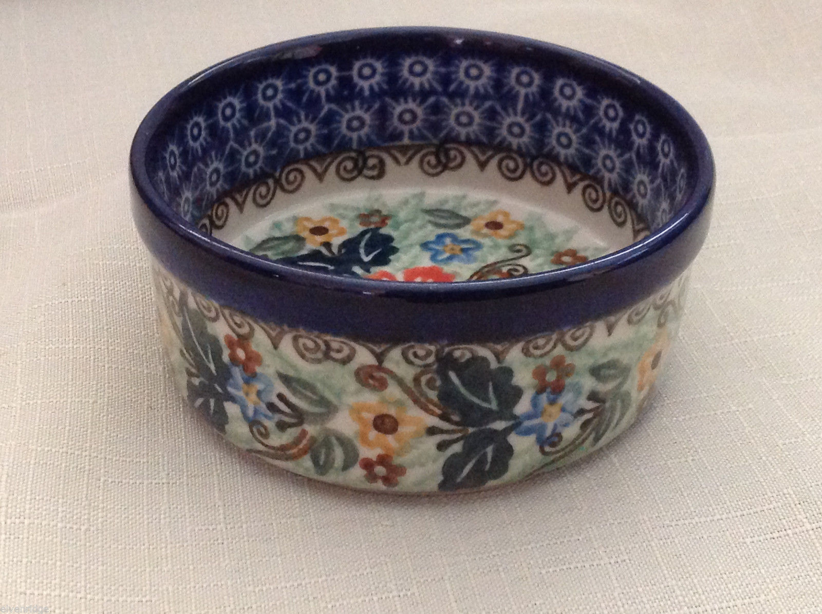 Unikat Polish Stoneware small custard cup or condiment  bowl  QVC Gorgeous
