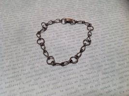 Unique Chain Link Clasp Closure Dark Silver Bracelet