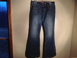 Union Bay Super Flare Fancy Buttons Blue Denim Jeans Size 11