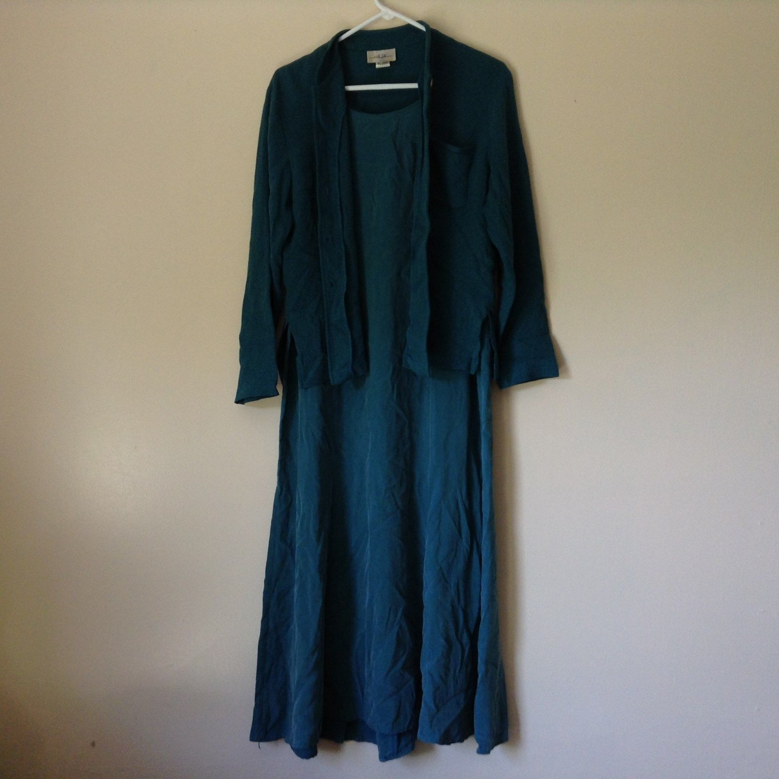 Turquoise Dress and Teal Long Sleeve Jacket I C Fashion Size Medium