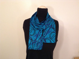 Turquoise Double Sided Fashionable Scarf  Length 56 Inches Width 5 Inches