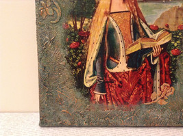 Russian Artist Handmade Religious Canvas Holy Virgin with Book Artist L Mironova image 5