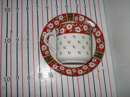 Kobe Charlton Hall Classic Traditions Cup and Saucer Set red floral - $3.91