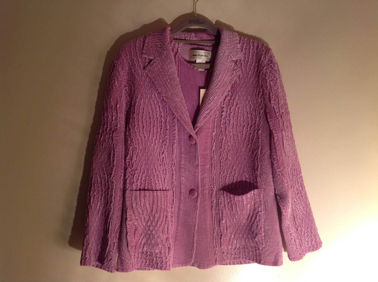 Two Piece Pink Shirt and Blazer Small Ruffles Design Set Keke Collection Size M