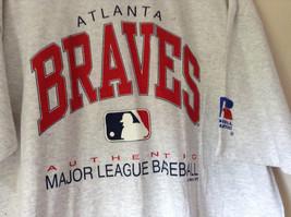 Atlanta Braves Baseball Gray Short Sleeve T Shirt Russel Athletic Size XXL image 2
