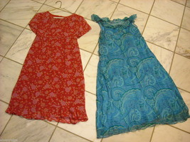 Two silk summery maternity dresses size small Mommy Chic and Mimi