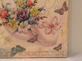 Russian Artist Handmade Vintage Decorative Canvas  Spring Flowers L Mironova image 4