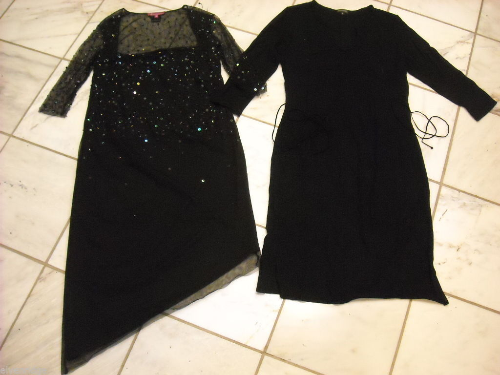 Two black maternity dresses size small by Mommy Chic and Babystyle