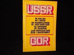 USSR 25 years of cooperation science technology 1976