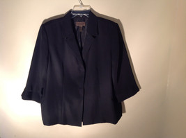 UNIFORM John Paul Richard Pure Black Jacket Blazer Shoulder Pads Size 16