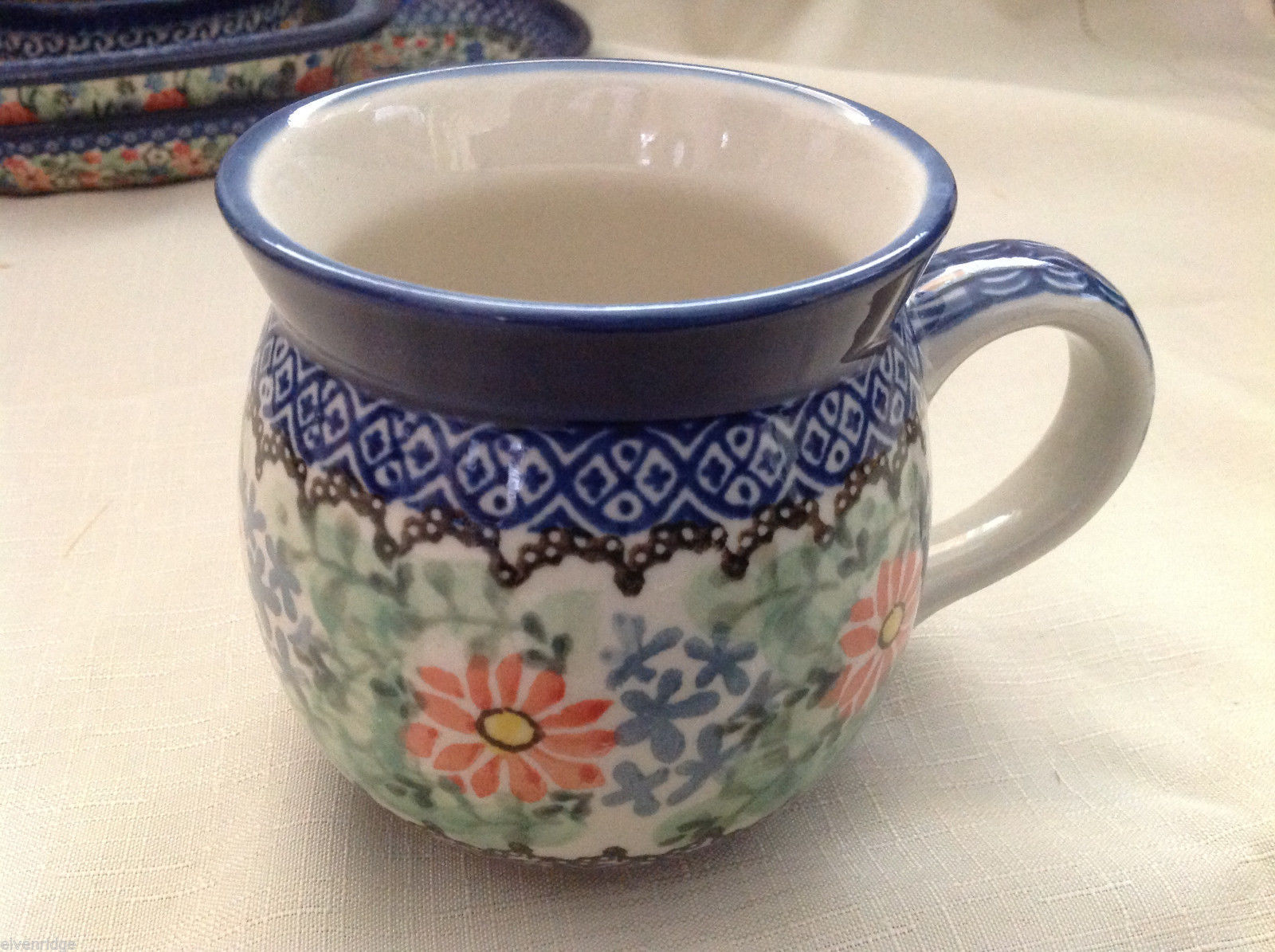 Unikat Polish Stoneware Coffee or tea mug  QVC Gorgeous
