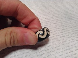S Pattern Wooden Hand Carved Ring Size 9.5, 6.5 or 5.5 image 2