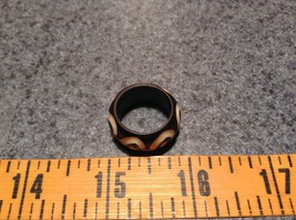 S Pattern Wooden Hand Carved Ring Size 9.5, 6.5 or 5.5 image 4