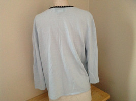 Sag Harbor Baby Blue Black Beaded Trimmed Sweater with Attached Shirt Size XL image 6