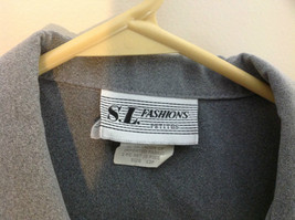 S. L. Fashions Petites Grey Two Tone Button Up Blazer Size 12 Petite image 3