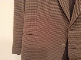 Saks Fifth Avenue Andrew Fezzo 100 Percent Wool Brown Plaid Suit Jacket Blazer image 4