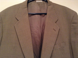 Saks Fifth Avenue Andrew Fezzo 100 Percent Wool Brown Plaid Suit Jacket Blazer image 2