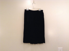 Saks Fifth Avenue Size 6 Black Velvet Dress Skirt Side Pockets Very Nice image 4