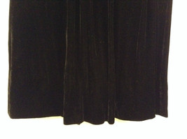 Saks Fifth Avenue Size 6 Black Velvet Dress Skirt Side Pockets Very Nice image 6