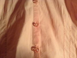 Salmon Pink Button Up Stretch Short Sleeve Shirt Size XL image 2