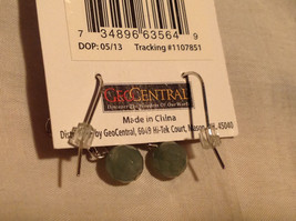 Attractive Aventurine Stone Dangling Silver Tone Earrings Hook Pack GeoJewelry  image 2