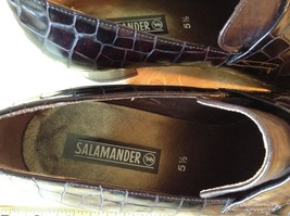 Salamander Shoes with Heel Size Five and a Half Brown Purple Tint image 3
