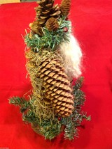 Santa figurine made of giant  pine cone and others image 9