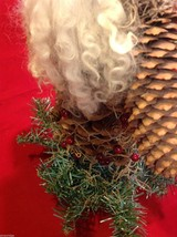 Santa figurine made of giant  pine cone and others image 10