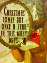 Santa Joyful Christmas Wooden Primitive Countdown Calendar from 31 Days image 4