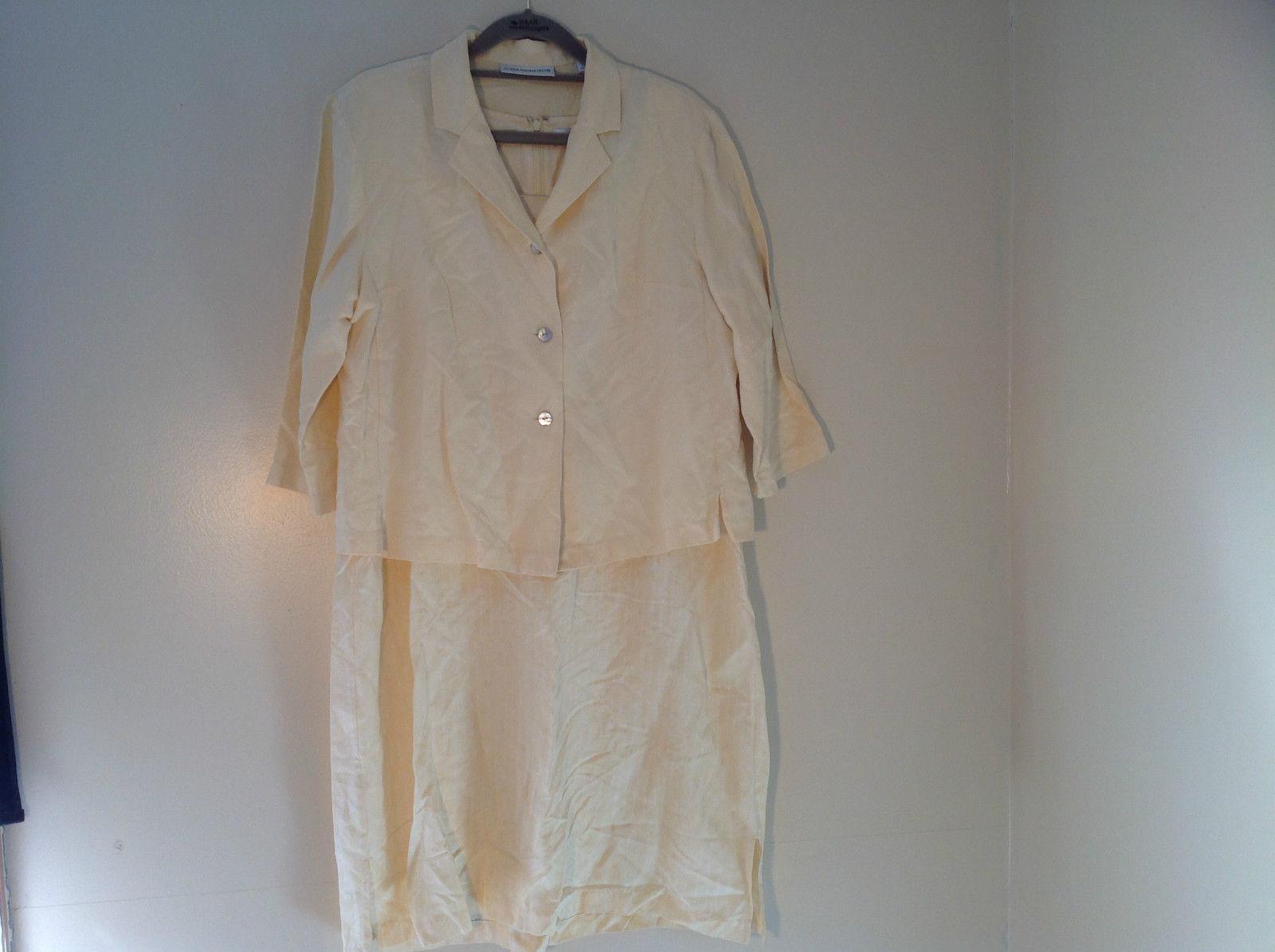 Valerie Stevens Light Peach 2 Piece Tank Dress and Blazer Dress Size 16