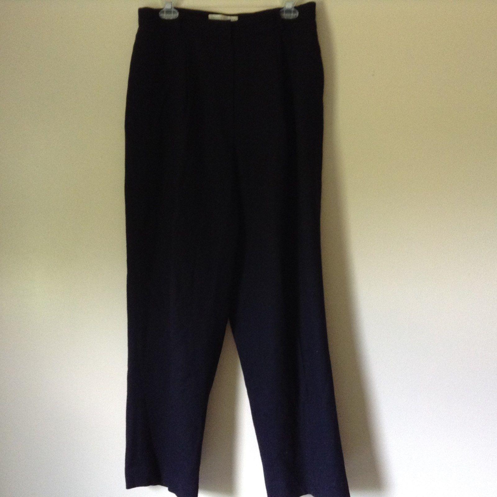 Valerie Stevens Pure Wool Dark Blue Dress Pants Size 14 Zipper Clasp Closure