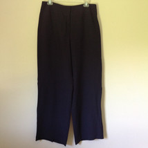 Very Nice Anne Klein New York Very Dark Blue Black Dress Pants Size 12 P - $49.49