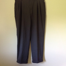 Van Heusen Gray Dress Pants Size 38/32 Cuffed Legs Front and Back Pockets