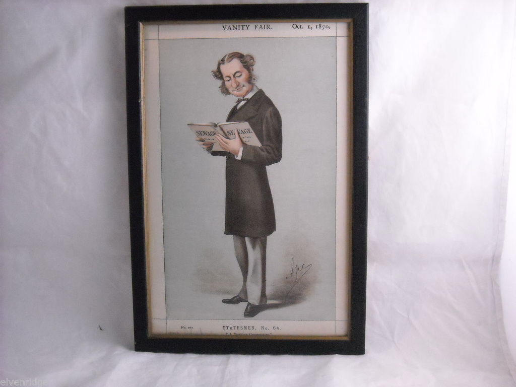 Vanity Fair Print of Lord Robert Montagu October 1, 1870