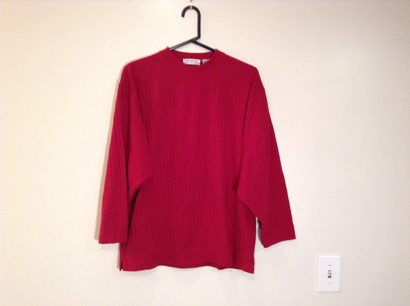 Very Nice Express Tricot Red Long Sleeve Top Size XS to 0