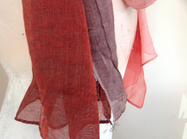 Attractive Crimson Red Pink Shimmery Material Fashion Scarf Made in China image 5